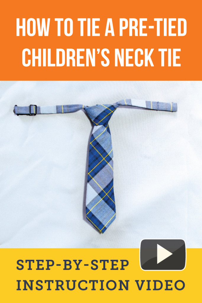 How to retie a pre tied childrens neck tie video the how to tie a childrens tie ccuart Image collections