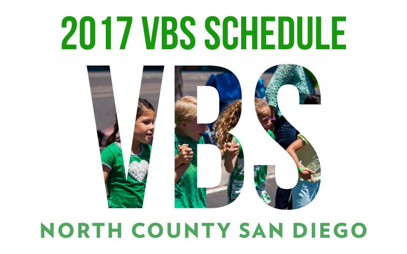 2017 VBS Schedule